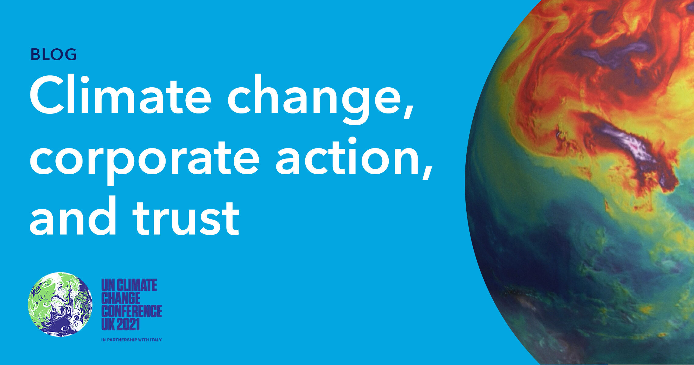 Blog Header - climate change, corporate action, and trust